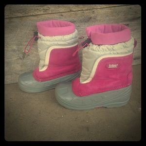 Totes Pink Suade Winter Snow Boot w/ Liners 13M